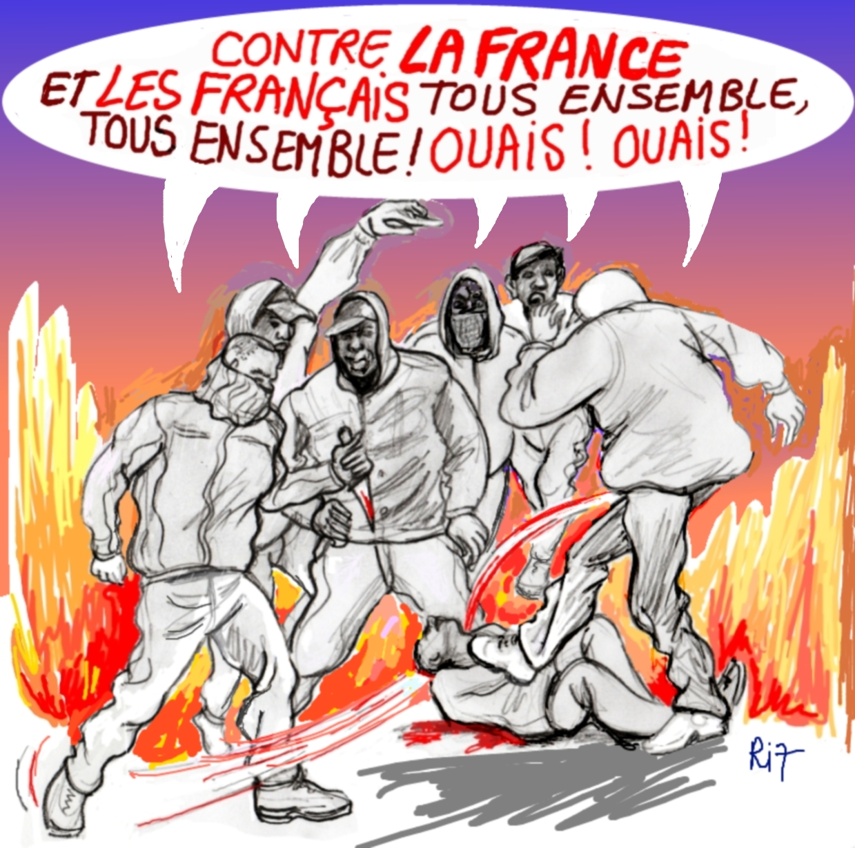 Ri7 Racaille contre la France