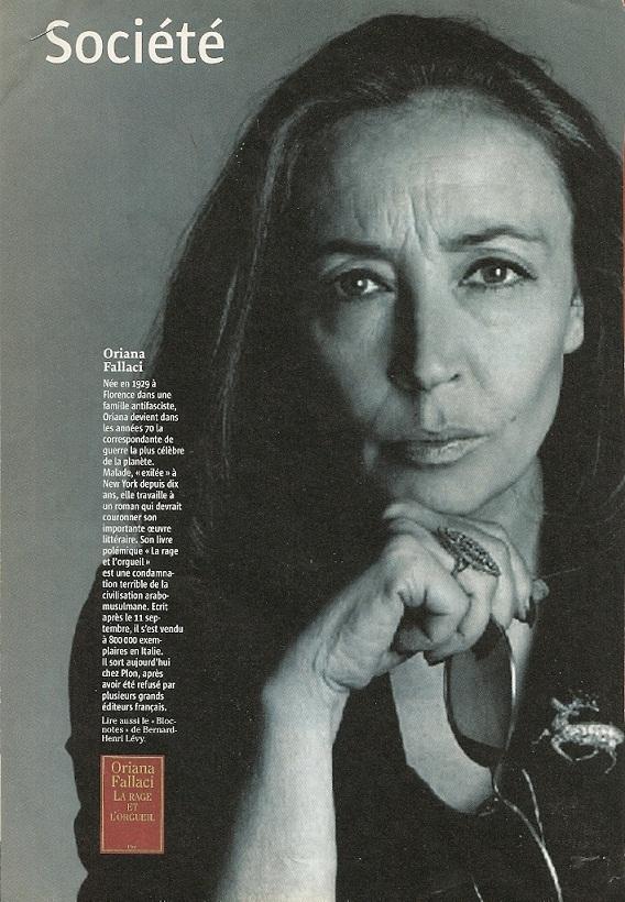 Hommage à une grande dame : Oriana Fallaci | Riposte Laïque