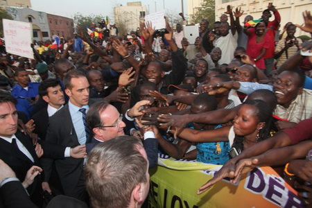 2013/02/02. President Hollande in Bamako.