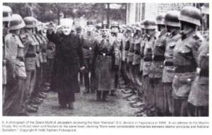 grand mufti faisant le salut nazi