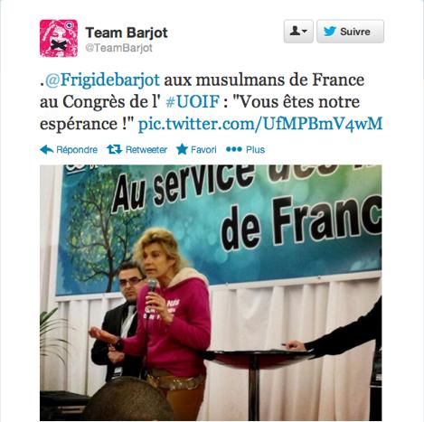 Frigide Barjot et l'UOIF 2
