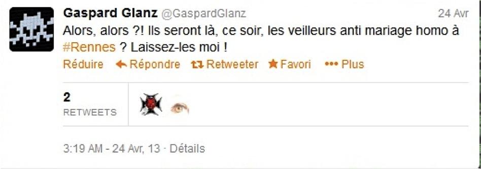 Gaspard Glanz tweet