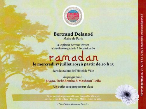 RAMADAN INVITATION DELANOE