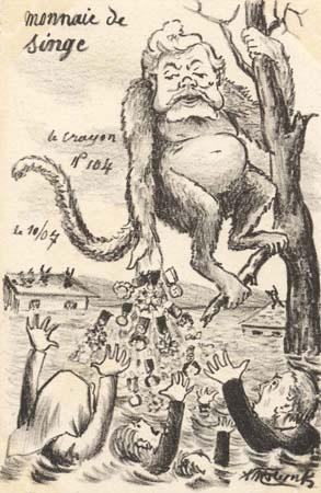 Armand Fallieres en singe (Le Crayon 104)