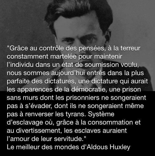 LA DICTATURE par Aldous Huxley