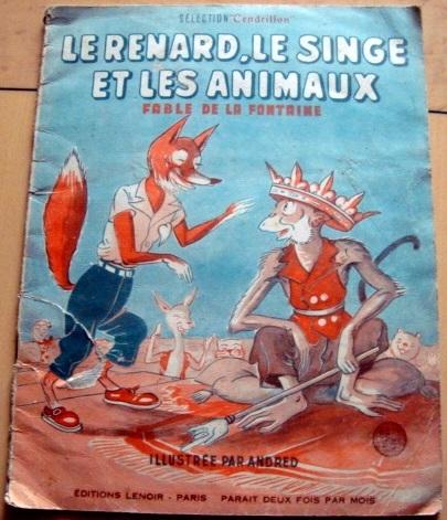 La Fontaine (Le renard le singe et les animaux) par Andred (1947)