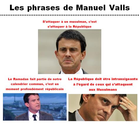 Les phrases islamocollabos de Manuel Valls REDUIT