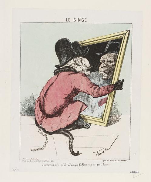 Napoleon-III-en-singe-1870-1871-Faustin-Betbeder-1847-1918