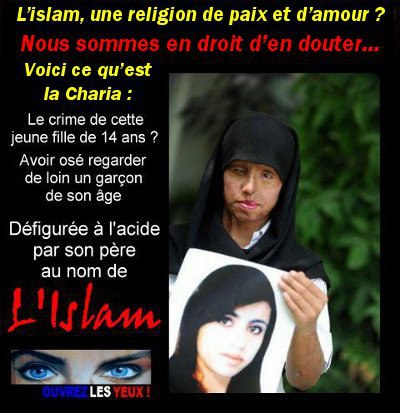 RELIGION D'AMOUR ET DE PAIX !