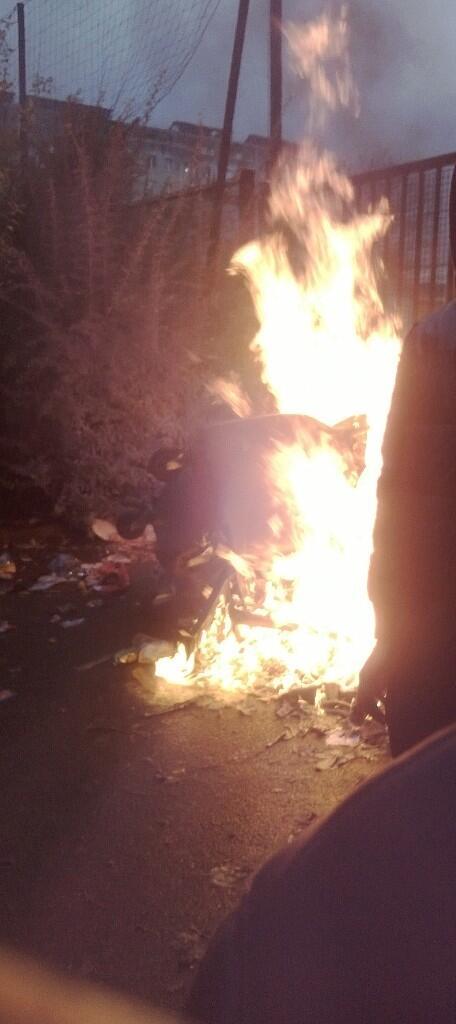 Incendie de poubelle JC Nanterre