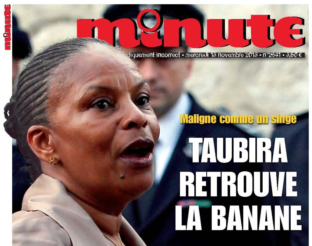 Taubira a la banane (Minute) couverture 13-11-13 REDUIT