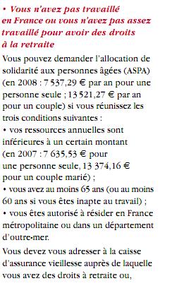 retraites en France