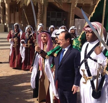 Hollande et le sabre islamique1