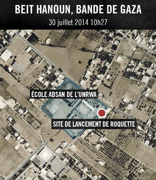 ECOLE Le Hamas tire des roquettes depuis une ecole de lONU a Beit Hanoun