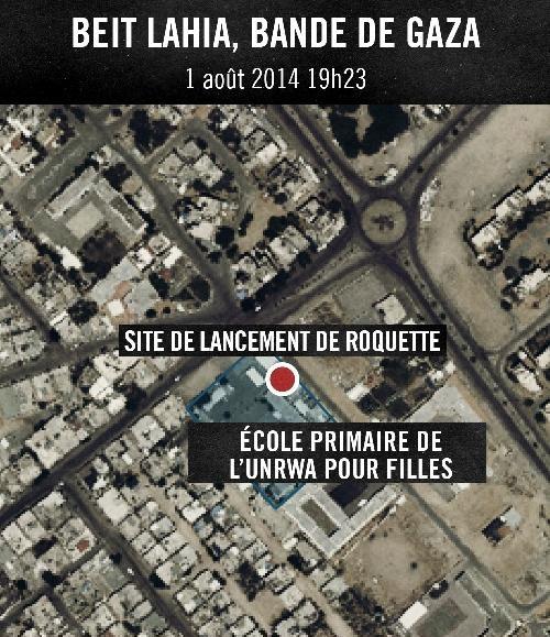 ECOLE Le Hamas tire des roquettes depuis une ecole de lONU a Beit Lahia