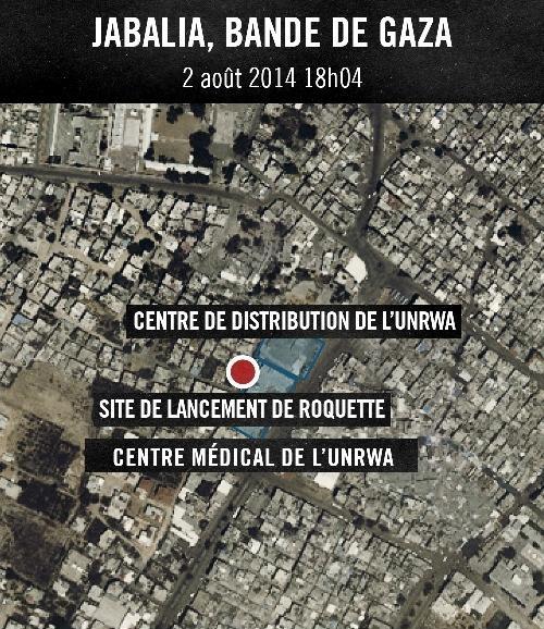 ONU Le Hamas tire des roquettes depuis des batiments de lONU a Jabalia