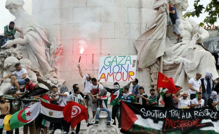 Manif pro-Hamas 26-07-14 Gaza mon amour