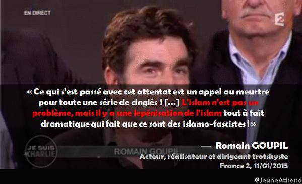 Romain Goupil lepénisation de l'islam