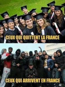 Ceux qui quittent la France et ceux qui y arrivent