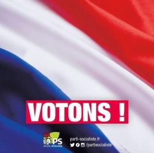 Votons affiche PS