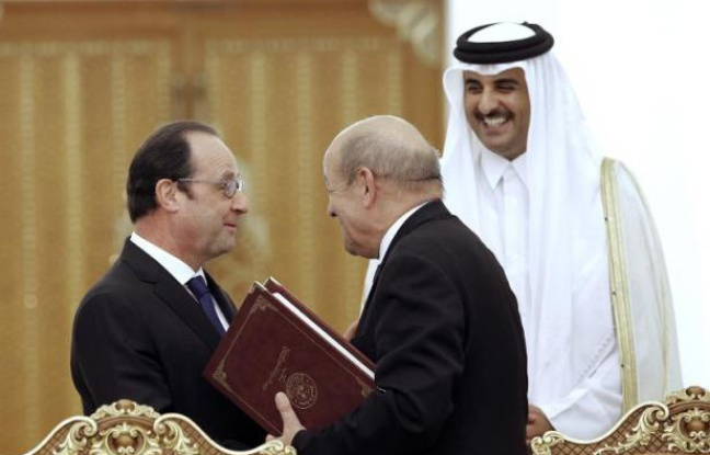 av le drian garantie des princes arabes
