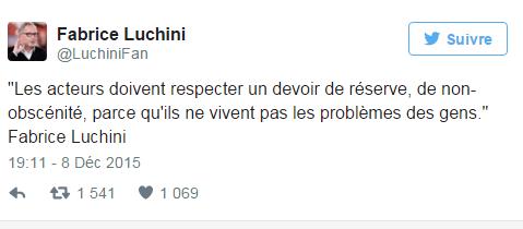 tweet- luchini