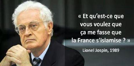 Depuis Jospin en 1989, les musulmans ont compris la lâcheté française