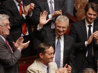 Claude Bartolone élu au perchoir en juin dernier ; mais le petit ump Barouin à ses côtés a l