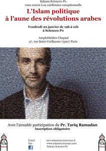 Tariq Ramadan à Sciences Po janvier 2016