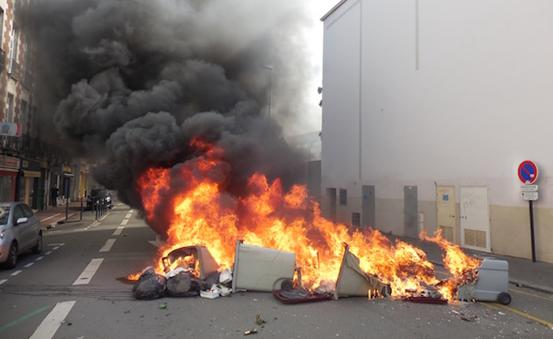 poubelles-incendiees