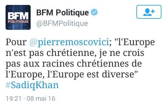 Mosco pense que les racines de la France ne sont pas chrétiennes