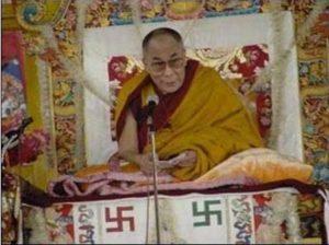 Affiche Orange-Dalaï Lama