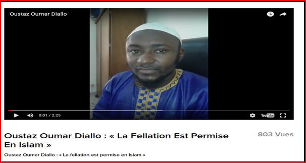Fellation par Imam senegal