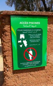 Panneau d'interdiction du burkini au Maroc, signe patent d'une hystérie islamophobe, stigmatisante et non propice au vivre ensemble