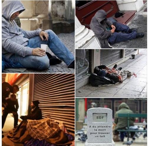 ils dorment et meurent dans la rue mais ce ne sont que des fran ais riposte la que. Black Bedroom Furniture Sets. Home Design Ideas