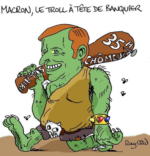 Macron qui veut se faire aussi gros que le boeuf riposte la que - Piece qui resonne que faire ...