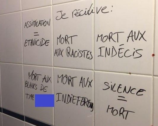 Université Paris VIII occupée : racisme anti-blanc, haine de la France