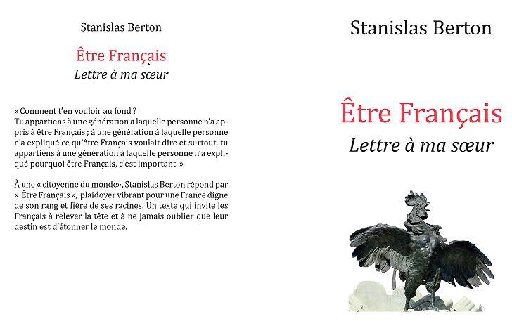 Etre Français Lettre à Ma Soeur De Stanislas Berton Un