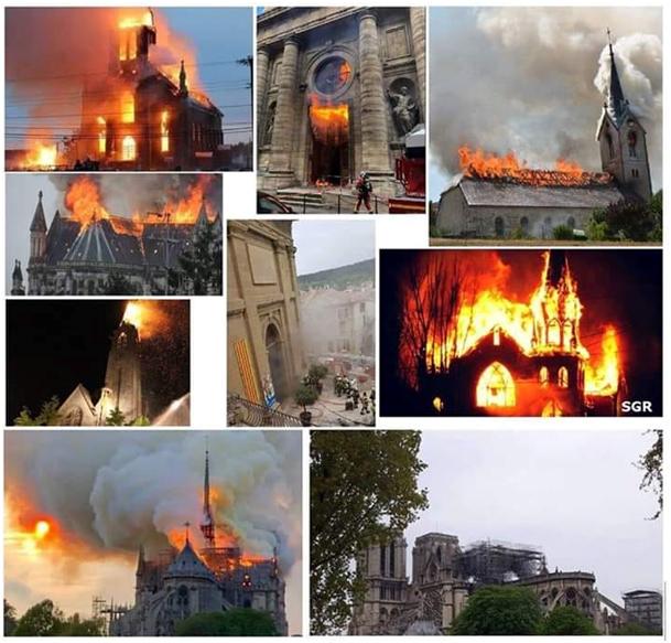 Notre Dame de Paris en flammes  - Page 9 Eglises-ravagées