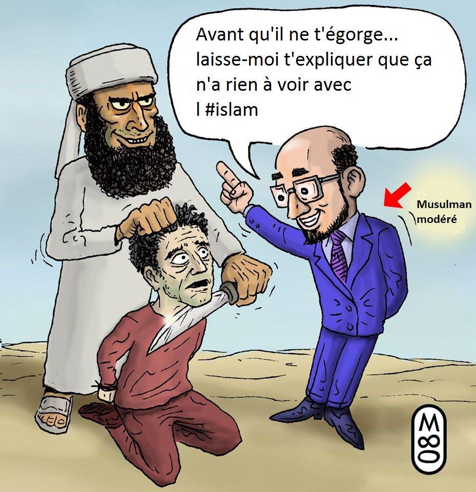 Un musulman modéré, c'est un homme qui n'applique pas l'islam