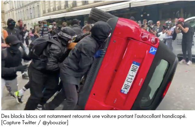 Florian Philippot dénonce l'impunité des Black Blocs, milice du pouvoir