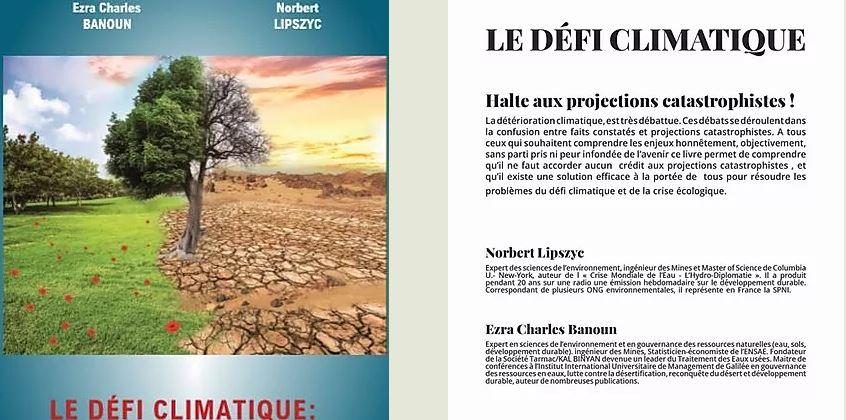 Le défi climatique, de Norbert Lipszyc et Ezra Banoun : non à l'alarmisme