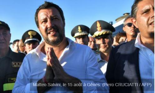 Salvini devant les tribunaux, honte au Sénat italien