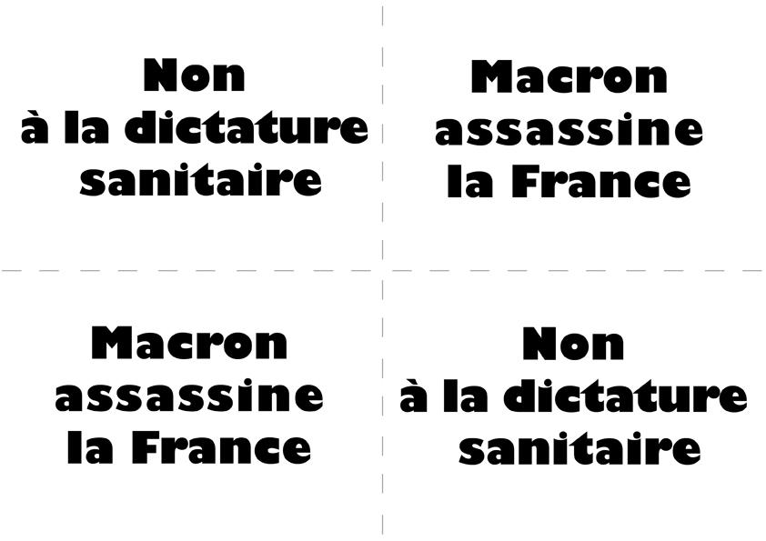 Macron assassine la France, dites non à la dictature sanitaire !