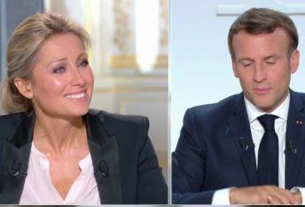 Anne-Sophie Lapix a dévoré Macron des yeux de manière obscène