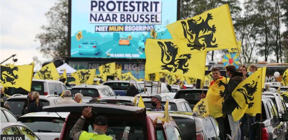 Des milliers de nationalistes du Vlaams Belang à Bruxelles
