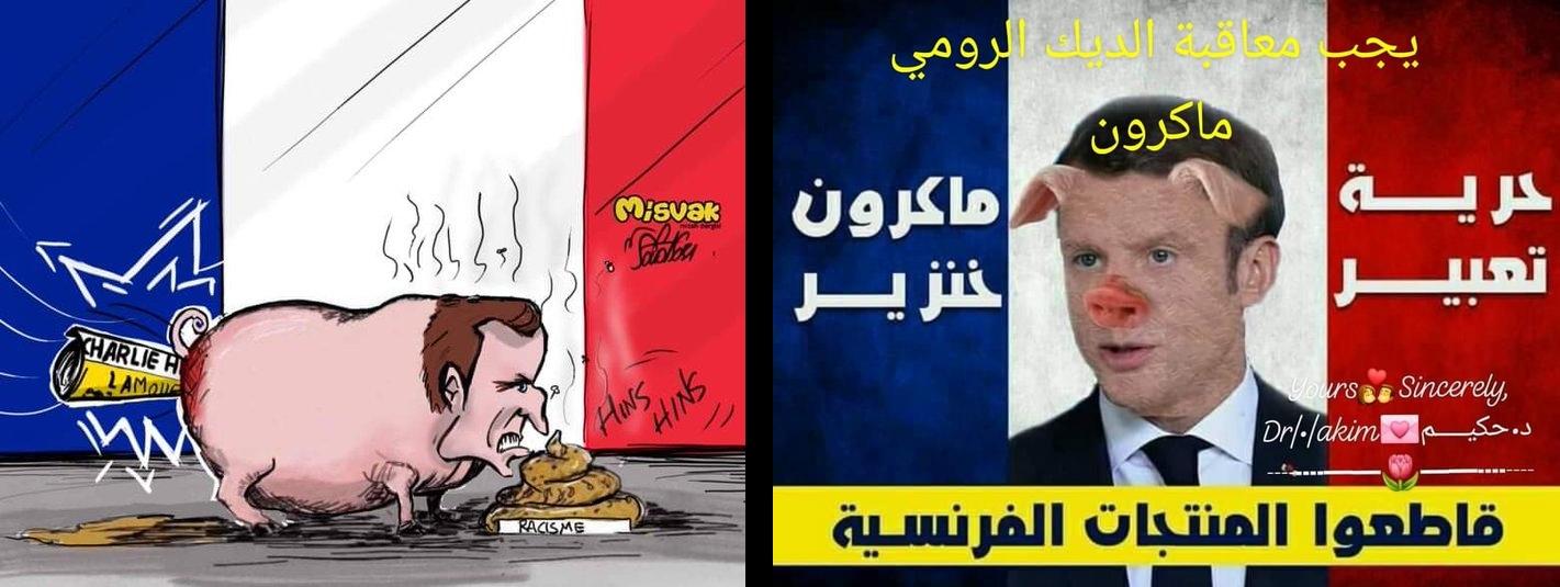 Caricature d'Emmanuel Macron