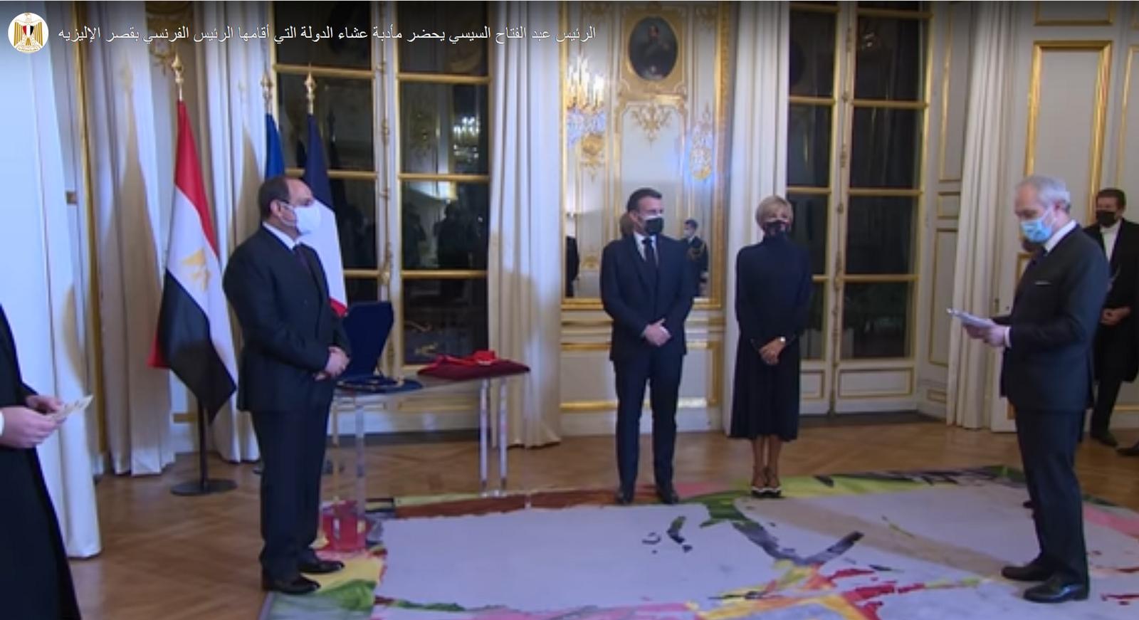 Légion d'honneur remise secrètement au Président égyptien Al-Sissi par Macron