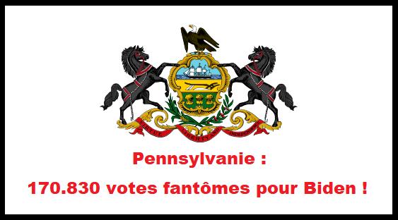 Pennsylvanie: des élus découvrent 170.830 votes fantômes pour Biden!