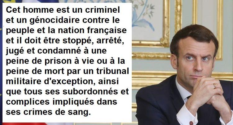 Plainte pour génocide des Français contre Macron et son administration